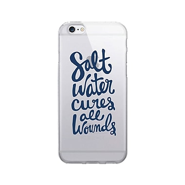 OTM Prints Clear Phone Case, Salt Water Cures Navy, iPhone 7/7S (OP-IP7V1CG-A02-44)