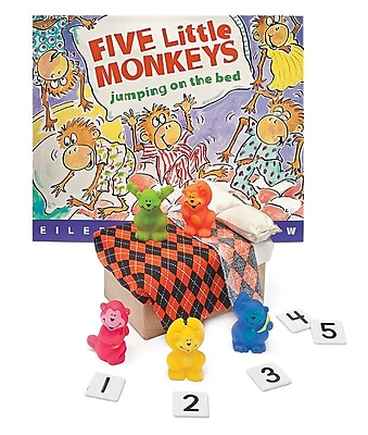 Primary Concepts Five Little Monkeys Jumping on the Bed 3-D Storybook, Paperback (1523)