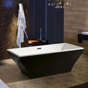 AKDY 66.93'' x 31.5'' Soaking Bathtub; Black