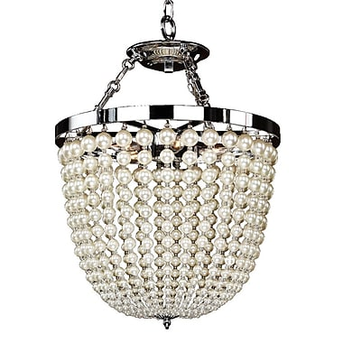 Glow Lighting Moscato 3-Light Crystal Pendant