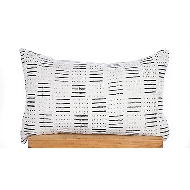 One Fine Nest Dots and Dashes Print African Mud Cloth Pillow Cover