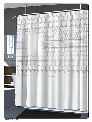 Splash Home PEVA Chunk Shower Curtain