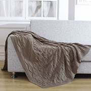 De Moocci Pleated Knitted Throw Blanket