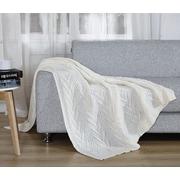 De Moocci Chunky Knit Throw Blanket