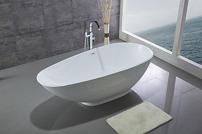 Legion Furniture 74.8'' x 32.5'' Bathtub