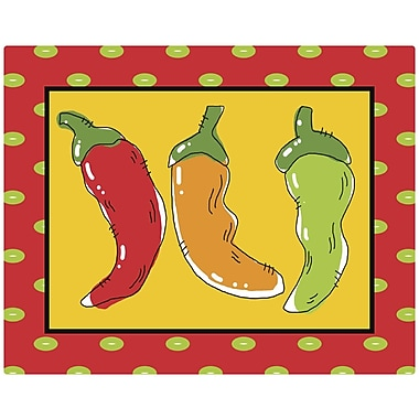 Magic Slice Fresh Peppers by Deidre Mosher Non Slip Flexible Cutting Board