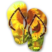 Next Innovations Steel Sunflower Flip Flops Wall D cor