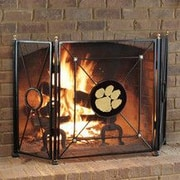 HensonMetalWorks NCAA 3 Panel Steel Fireplace Screen; Clemson University