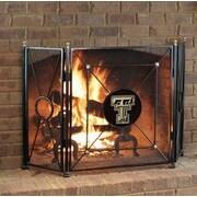 HensonMetalWorks NCAA 3 Panel Steel Fireplace Screen; Texas Tech University