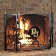 HensonMetalWorks NCAA 3 Panel Steel Fireplace Screen; Baylor University
