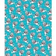 Island Girl Home Kids Goofy Shark Fleece Throw Blanket