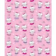 Island Girl Home Kids Kitten Dance Fleece Throw Blanket