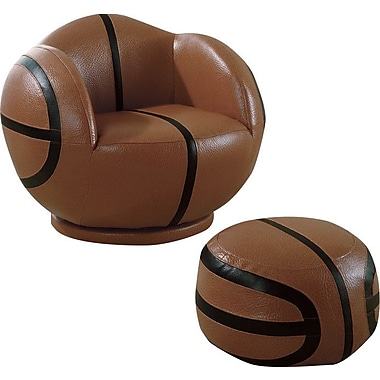 Wildon Home Basketball Kids Novelty Chair and Ottoman