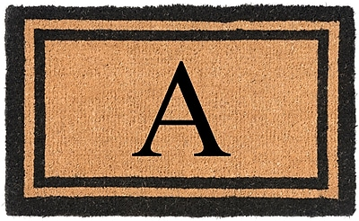 Nance Industries YourOwn Monogrammed Welcome Doormat; A