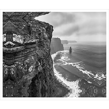 3 Panel Photo Lofty View of the Sea Black and White by Chach Files Photographic Print on Canvas