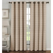 Window Elements Geometric Sheer Curtain Panels (Set of 2); Taupe