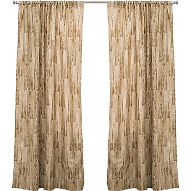 The Pillow Collection Lodge Abstract Semi-Sheer Rod Pocket Single Curtain Panel; 50'' W x 84'' L