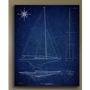 JaxsonRea 'Pirate Ship' by Tina Carlson Graphic Art on Wrapped Canvas; 48'' H x 36'' W x 1.5'' D