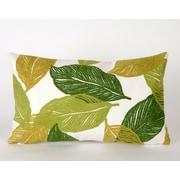 Liora Manne Mystic Leaf Indoor/Outdoor Lumbar Pillow; Green