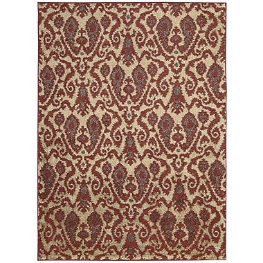 Nourison Kindred Ivory/Red Area Rug; 5' x 7'