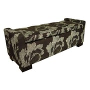 ORE Furniture Fabric Storage Bedroom Bench