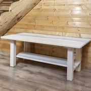Montana Woodworks  Homestead Coffee Table w/ Shelf; Ready to Finish