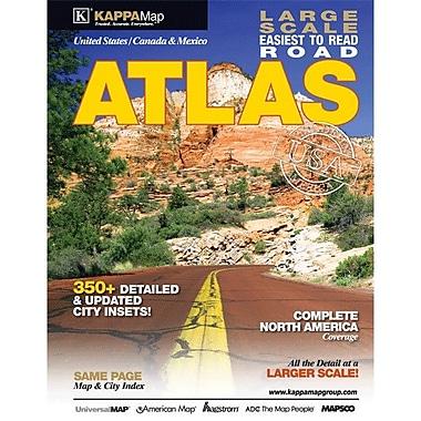 Universal Map North America Large Print Road Atlas