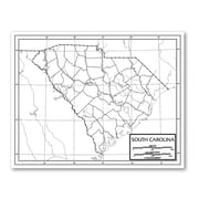 Universal Map Outline Map - United States