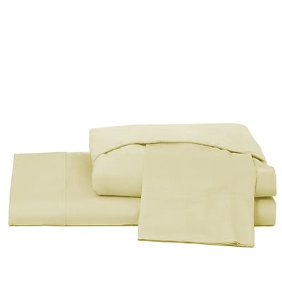 Ardor Home 600 Thread Count 100pct Cotton Jersey Deep Pocket Sheet Set; Ivory