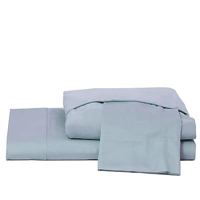 Ardor Home 600 Thread Count 100pct Cotton Jersey Deep Pocket Sheet Set; Dusty Blue