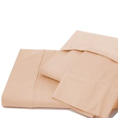 Ardor Home 600 Thread Count 100pct Cotton Jersey Deep Pocket Sheet Set; Pale Peach
