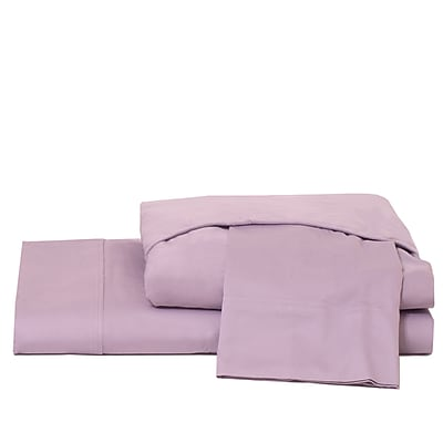 Ardor Home 600 Thread Count 100pct Cotton Jersey Deep Pocket Sheet Set; Lavender