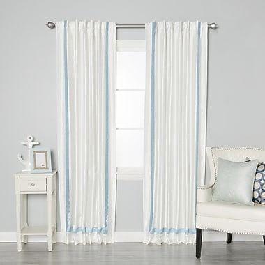 Best Home Fashion, Inc. Blackout Thermal Curtain Panels (Set of 2); Sky Blue