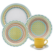 Oxford Porcelain Floral Daily 12 Piece Dinnerware Set, Service for 4