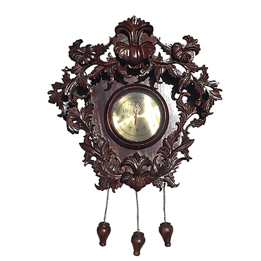 D-Art Collection Rose Carved Clock