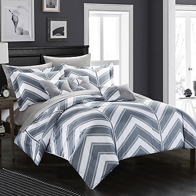 Chic Home Surfer Reversible Comforter Set; Twin
