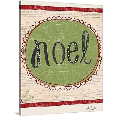 Canvas On Demand Christmas Art 'Noel' by Katie Doucette Textual Art on Wrapped Canvas