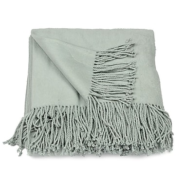 Aviva Stanoff Design Silk Fleece Throw; Duck Egg