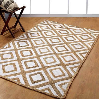 Affinity Linens Hand-Woven White Area Rug; 5' x 8'