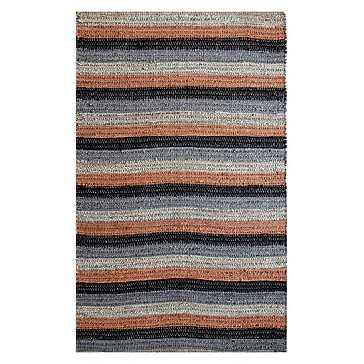 Affinity Linens Hand-Woven Black/Rust Area Rug; 5' x 8'