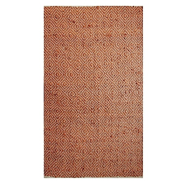 Affinity Linens Hand-Woven Rust Area Rug; 8' x 10'