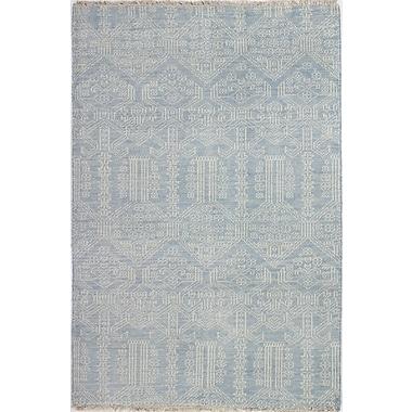 Bashian Rugs Artifact Hand-Knotted Light Blue Area Rug; 7'6'' x 9'6''
