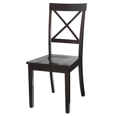 TTPFurnish Two Sturdy Solid Wood Dining Chair (Set of 2)