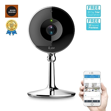 ILuv mySight – Caméra vidéo 2K HD Wi-Fi infonuagique pour surveillance personnelle ou d'affaires (MYSIGHT2KUL)