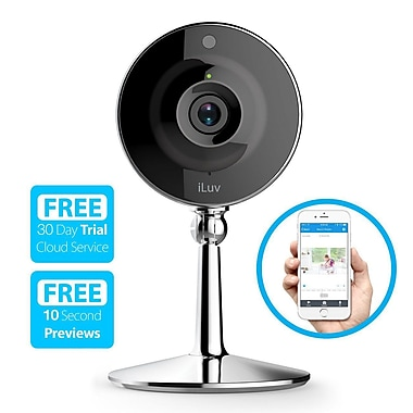 iLuv mySight Wi-Fi Cloud-Based HD Video Camera for Home and Business Monitoring, (MYSIGHTUL)