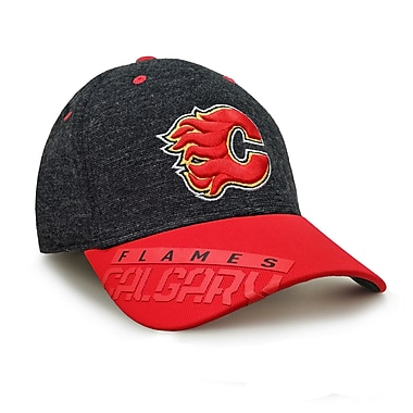 Reebok – Casquette des séries éliminatoires de la NHL des Flames de Calgary, collection Center Ice