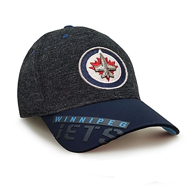 Reebok – Casquette des séries éliminatoires de la LNH des Jets de Winnipeg, collection Center Ice, G/TG (0837-03XL)