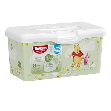 Huggies Natural Care Baby Wipes Tub, 64 Wipes/Box, (39301)
