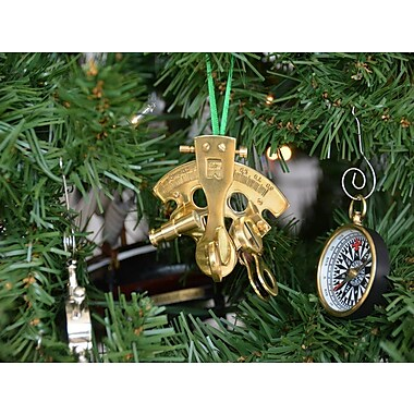 Handcrafted Nautical Decor Brass Nautical Sextant Christmas Tree Ornament