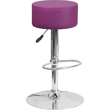 Flash Furniture – Tabouret de bar ajustable en vinyle violet et à pied chromé, ensemble de 2 (2-CH-82056-PUR-GG)
